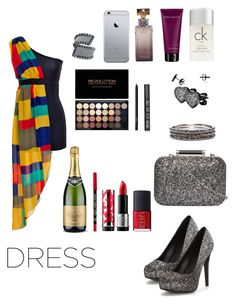 """""""Perfect Party Dress 💍"""" by breeyvonne ❤ liked on Polyvore featuring jon & anna, Calvin Klein, Dorothy Perkins, Chico's, West Coast Jewelry, GUESS, NARS Cosmetics, Topshop and MAKE UP FOR EVER"""