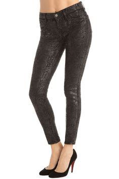 J Brand 901 Stonehenge Brand 901 Low-Rise Legging Jeans in Matte Boa, Size 24
