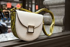Jason Wu's inspired Jamie bag in mixed materials of python and canvas