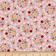 Riley Blake Bloom & Bliss Wreath Pink from @fabricdotcom  From Riley Blake, this cotton print fabric is perfect for quilting, apparel and home decor accents. Colors include shades of pink, blue, red, green, yellow and orange.