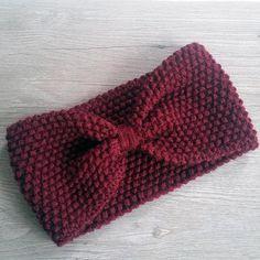 Knit Headband Pattern, Knitted Headband, Knitted Hats, Headband Laine, Baby Knitting, Crochet Baby, Free Crochet, Knit Crochet, Knitting Projects