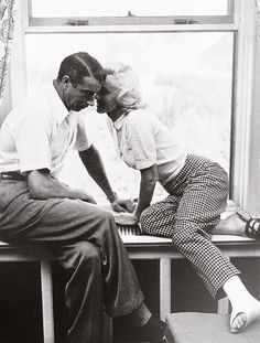 Marilyn and Joe in Canada, photographed by John Vachon.