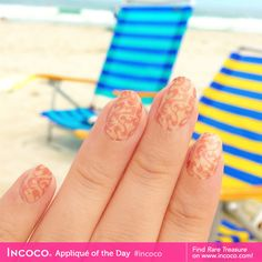 Discover Rare Treasure with this neutral, curvaceous #Incoco #naildesign! Click through to buy! $8.99