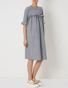 Black Gingham Frill Dress