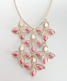 Kendra Scott Pink Jade 'Annice' Floral Link Bib Necklace Retail : $210.00 Now $46.79 on http://www.bluefly.com/invite/600c7rf