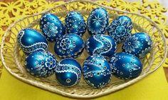 Modré metalické vajíčka! Nádhera! Autorka: marienka15. Veľkonočné dekorácie, veľká noc, vajíčka, vajcia, kraslice. Artmama.sk