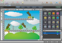 Stencyl: a complete game-creation toolset based on Scratch blocks. Click and drag blocks to program your characters and choose from many ready made blocks.