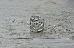 Black Friday SALE * Silver statement ring - size 6 ring - wide modern ring, boho ring, simple and geometric for everyday * FREE SHIPPING