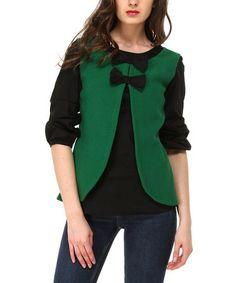 This Green & Black Eden Swing Top by Almatrichi is perfect! #zulilyfinds