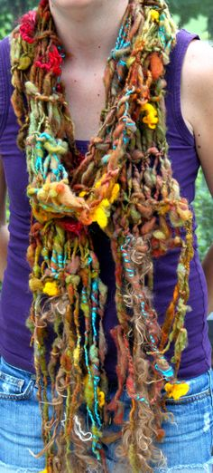 Hand Knit Autumn Scarf named Autumn Sky in Super Soft by bpenatzer, $89.00