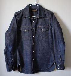 Iron Heart Indigo Heavy Weight Selvedge 10oz Shirt