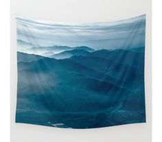 Wall Tapestry, Mountain Tapestry, Wall Hanging, Blue Mountains, Nature Wall Art, Large Photo Wall Art, Modern Tapestry, Home Decor