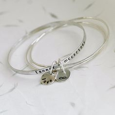 Stacking Bangle Bracelets for Mom Mom Jewelry Mom by thebeadgirl