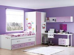 Cuarto hello kitty! Ideas Para, Hello Kitty, Toddler Bed, Bedroom, Furniture, Home Decor, Quartos, Child Bed, Bedrooms