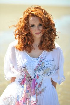 Beautiful curly red hair