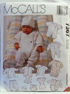 McCall's 7367 Infants' Layette