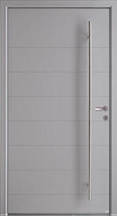 Modèle Phosphore Mixte à lames Porte d'entrée mixte alu / bois contemporaine sans vitrage Donnez une autre dimension à l'art d'accueillir avec des portes plus larges, pour plus de confort. Des lignes horizontales et une grande barre de tirage verticale (sur toute la hauteur) pour plus de modernité.