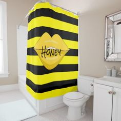 #shower - #Yellow lips shower curtain