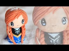 Anna from Frozen Chibi Polymer Clay Tutorial