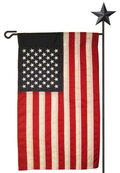 Burlap American Decorative House Flag Bandiera Tela di iuta e House
