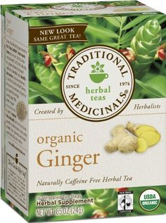 Traditional Medicinals Organic Ginger  (Pack of 6):  If you're a fan of spice or just dig ginger's digestive soothing properties, you're going to love this spicy herbal blend.
