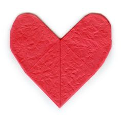 Learn to make and origami heart easily. Nice place to learn unique origami models using paper. 3d Origami Heart, Origami Easy, Fabric Origami, Origami Paper, Origami Models, Make It Simple, 2d, Learning, Unique