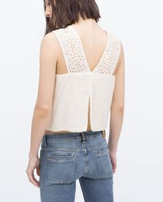 ZARA - WOMAN - TOP WITH EMBROIDERED STRAPS