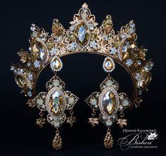 Soutache Jewelry, Gems Jewelry, Hair Jewelry, Beaded Earrings, Women Jewelry, Circlet, Bridal Crown, Tiaras And Crowns, Crown Jewels