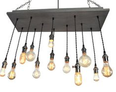 Edison Bulb Moment Industrial Chandelier by IndustrialLightworks