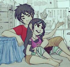 Shipped!!!(vanellope and hiro) What would be a good ship name?