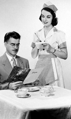 Vintage 1950's Diner styled half aprons Handmade by Ablast2thepast, $13.00