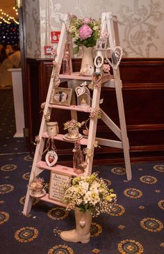 Vintage Wooden Step Ladder (wedding Prop/decoration)