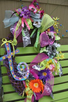 Initials Painting Patterns | Spring and Summer Wreaths 2011