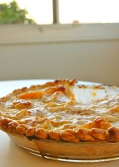 Nathalie Dupree's Peaches & Cream Pie......Awesome recipe and super easy. Your guests will be impressed!