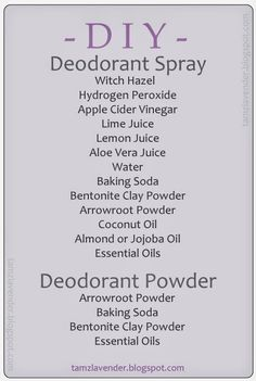 DIY edens garden nz Aubergine Dreamz: DIY: Deodorant Spray und Puder 5 Important Tips On How To Buil Diy Deodorant, Baking Soda Deodorant, Essential Oil Deodorant, Deodorant Recipes, Baking Soda Shampoo, Natural Deodorant, Essential Oils, Baking Soda For Hair, Baking Soda And Lemon