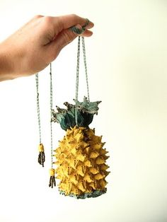 This is a pineapple reticule. It is knit on very small needles. My pineapple reticule! Made just for me : )