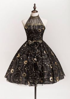 Lost Angel -The Starry Night- Lolita JSK Version II Source by ImaLannister dress Pretty Outfits, Pretty Dresses, Beautiful Dresses, Moda Lolita, Dress Outfits, Fashion Dresses, Fantasy Dress, Short Dresses, Formal Dresses