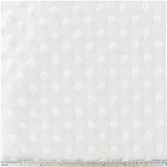 PLU- White Bubble Micro Fleece Fabric | Shop Hobby Lobby $9.09