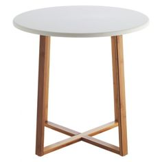 DREW Bamboo and white lacquer large side table | Buy now at Habitat UK