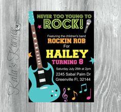 Rock And Roll Birthday Invitation By KalasKorner 1200 Custom Invitations