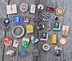 Lot of Vintage Soviet aluminum badges.Soviet Sport.  Use the ZOOM for a closer look!!!  Measure: between 1.5-3 cm (0.5-1.1 inch) Shipping: We are