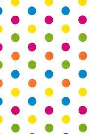 Resultado de imagem para estampa poá colorido