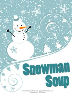 Take a single-serving package of hot chocolate mix, chocolate candy kiss, marshmallows and candy cane = Snowman Soup! Snowman Soup, Snowman Crafts, Kid Crafts, Holiday Activities, Holiday Crafts, Holiday Ideas, Winter Christmas, Christmas Time, Christmas Ideas