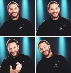 Tom Hardy and that smile ❤