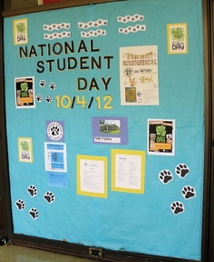 Signage about their volunteer opportunity with their local humane society at Southeast Bookstore-Southeast Missouri State University, via Flickr.