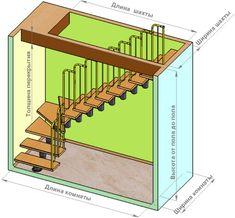 Лестничная установка между этажами здания