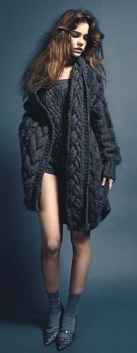 Stella McCartney - Chunky grey sweater.  Love her designs!