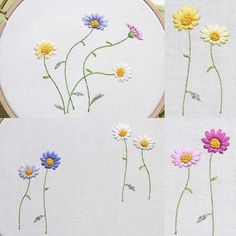 #embroidery #bajilda #flower #artist #야생화자수 #꽃자수 #바찔다 #needlepoint #needlework #stitch