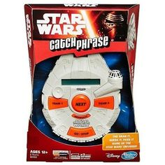 Buy Star Wars Catchphrase Game at Mighty Ape NZ. It's the intergalactic version of the classic Catch Phrase game! Can you guess the words from the Star Wars Universe that your teammate is trying to . Star Wars Games, Star Wars Toys, Catchphrase Game, Guess The Word, Episode Vii, Thing 1, Game Sales, Toys R Us, Kids Toys