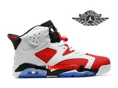 best cheap e6ba8 3d32f Air Jordan VI (6) Retro - Chaussures Baskets Offciel Pas Cher Pour Homme  Rouge